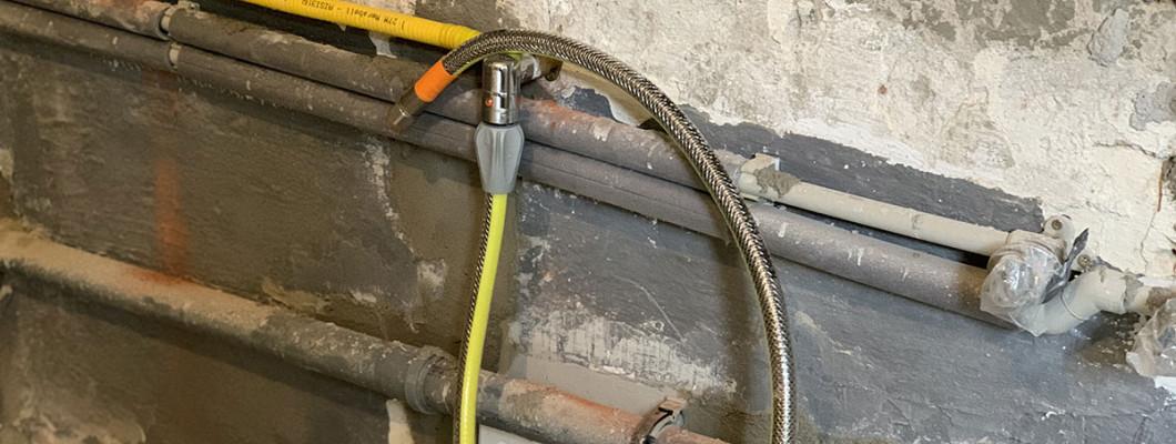Rekonstrukce plynovodu s nerezovou trubkou a hadicí GAS PROFI 2 v 1