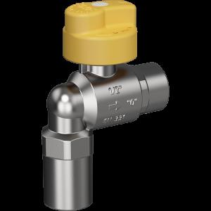 """Bezpečnostní plynový ventil Merabell VAIT Rp1/2""""-Rp1/2"""" - rohový"""