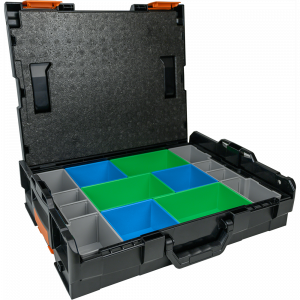 Systémový kufr na nářadí Merabell L-BOXX 102 s vložkou pro uložení fitinek