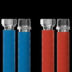 "Připojovací set Merabell Aqua Flexi R1/2""-G1/2"" 30-60cm - 2ks hadice (modrá, červená)"