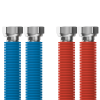 "Připojovací set Merabell Aqua Flexi G1/2""-G1/2"" 30-60cm - 2ks hadice (modrá, červená)"