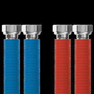 "Připojovací set Merabell Aqua Flexi G3/4""-G3/4"" 30-60cm - 2ks hadice (modrá, červená)"
