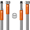 "Hadice Merabell Aqua, vodovodní baterie, G3/8""–M10x1 dlouhý závit – 2ks + perlátor"